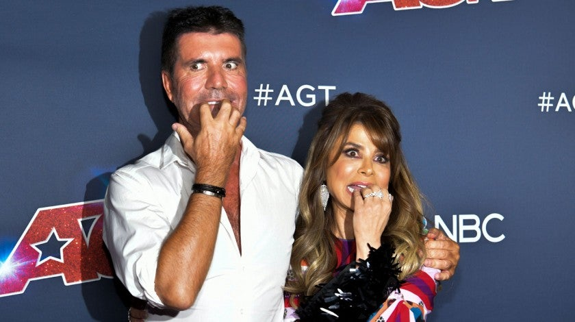 "Simon Cowell and Paula Abdul at the ""America's Got Talent"" Season 14 Finale Red Carpet"