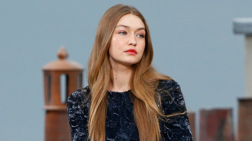Gigi Hadid on chanel runway