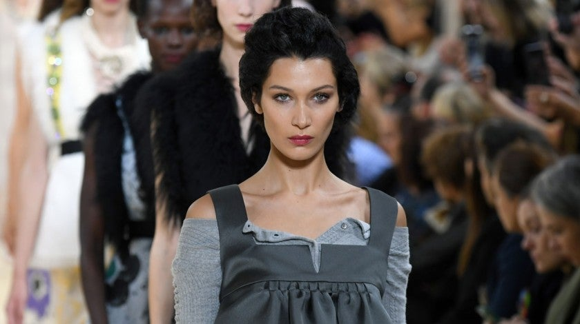 bella hadid at miu miu
