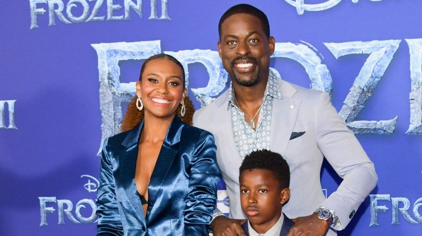 ryan michelle bathe, andrew and sterling k brown at frozen II premiere