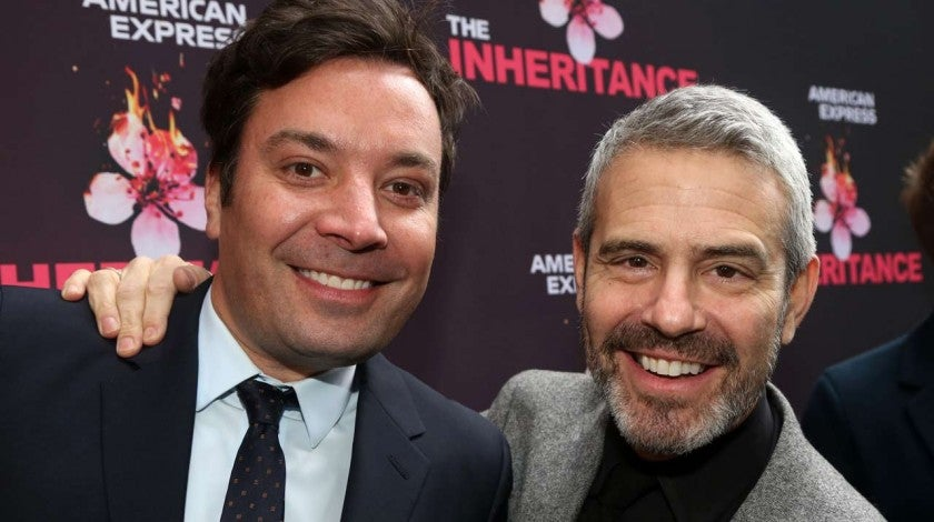Jimmy Fallon and Andy Cohen