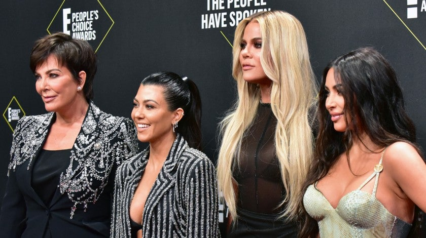 Kris Jenner, Kourtney Kardashian, Khloe Kardashian, and Kim Kardashian West at the People's Choice Awards 2019