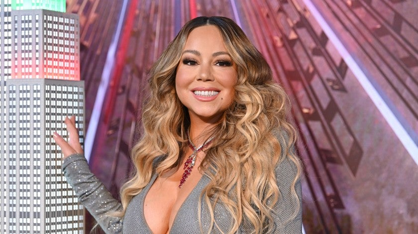 "Mariah Carey lights the Empire State Building in celebration of the 25th anniversary of ""All I Want For Christmas Is You"""