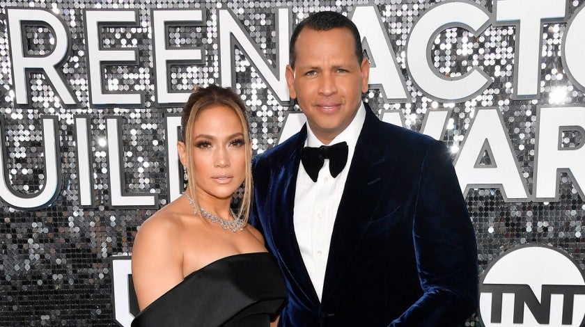Jennifer Lopez and Alex Rodriguez at the 26th Annual Screen Actors Guild Awards