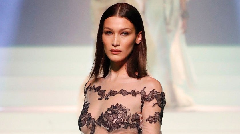 Bella Hadid walks the runway during the Jean-Paul Gaultier Haute Couture Spring/Summer 2020 show