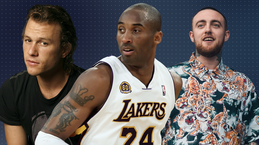 stars lost too young: heath ledger, kobe bryant, mac miller