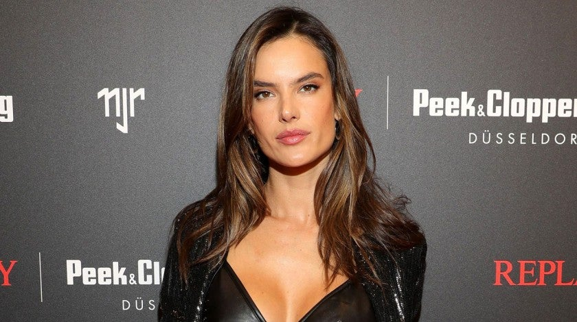 Alessandra Ambrosio at a launch event in germany