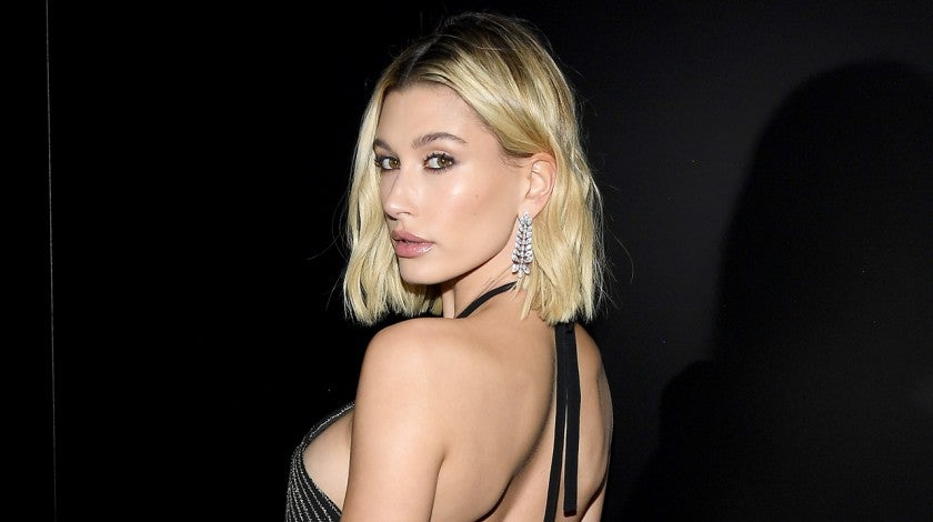 Hailey Bieber Saint Laurent show 1280
