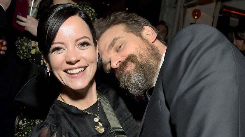 Lily Allen and David Harbour at 2020 Netflix SAG After Party