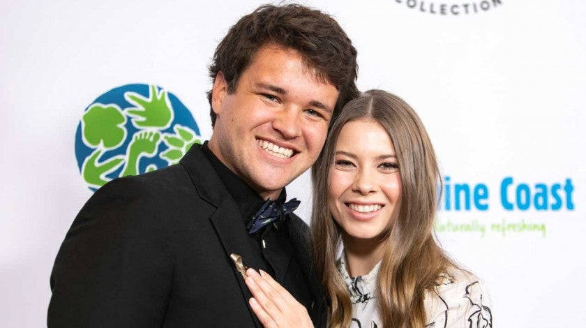 Chandler Powell and Bindi Irwin at the Steve Irwin Gala Dinner in 2019