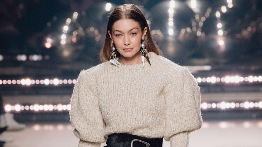 gigi hadid on Isabel Marant Runway - Paris Fashion Week Womenswear Fall/Winter 2020/2021