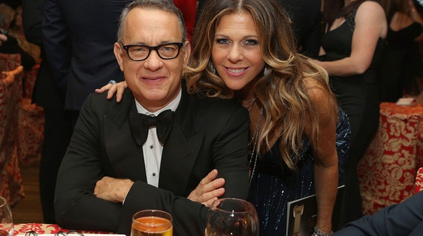 Tom Hanks and Rita Wilson at HBO's Post 2014 Golden Globe Awards Party