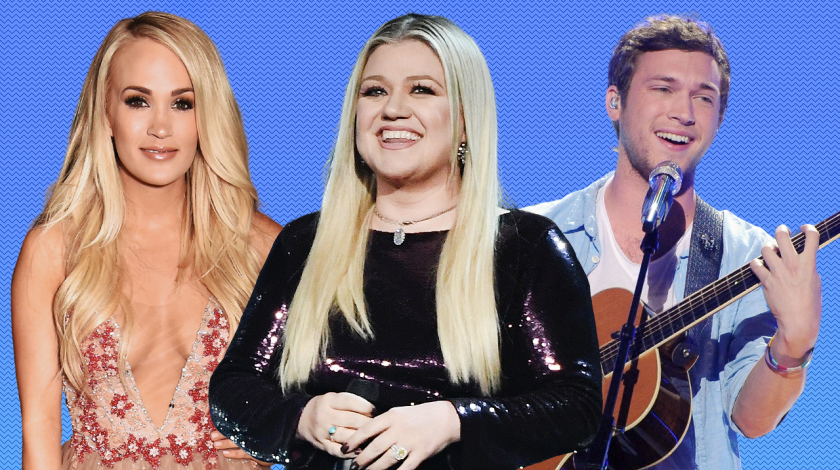 American Idol winners: Carrie Underwood, kelly Clarkson, Phillip Phillips