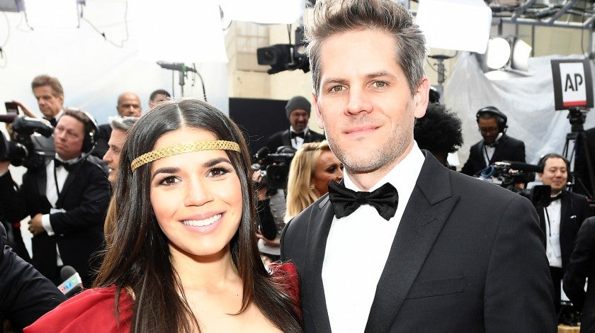 America Ferrera and Ryan Piers Williams attend the 92nd Annual Academy Awards at Hollywood and Highland