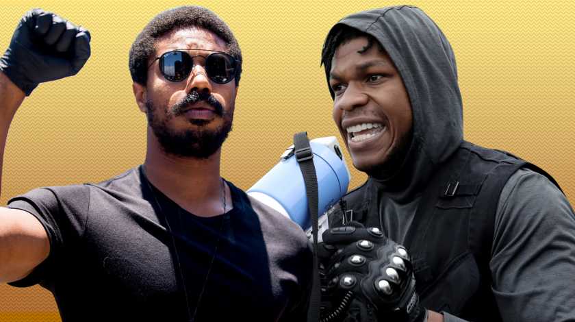 Protests: Michael B Jordan & John Boyega