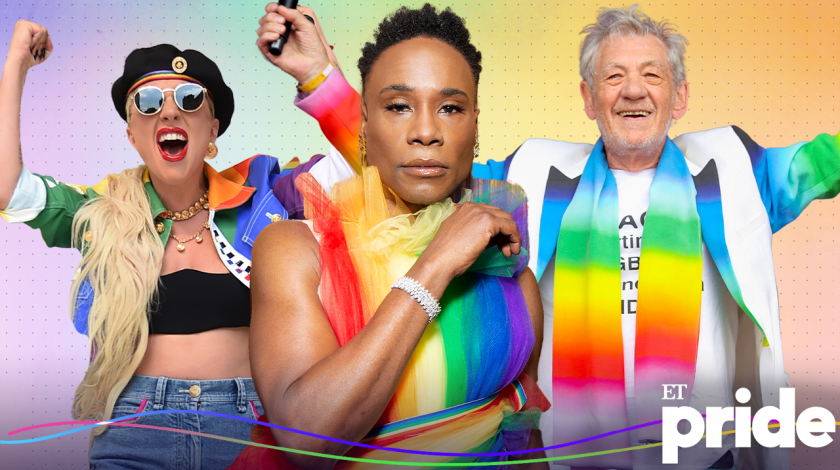 pride parades through the years: lady gaga, billy porter, sir ian mckellan