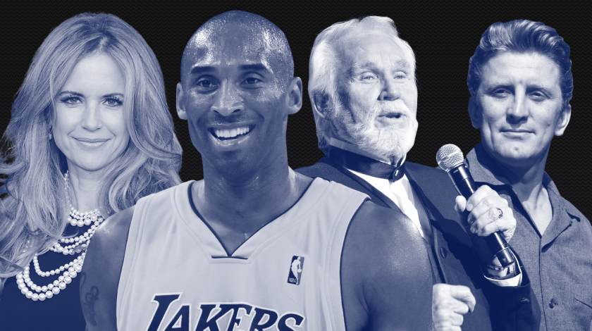 Stars we've lost in 2020: kobe bryant, kenny rogers, kirk douglas, kelly preston