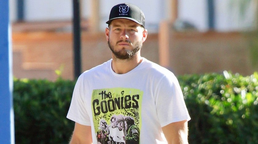 colton underwood in goonies tee
