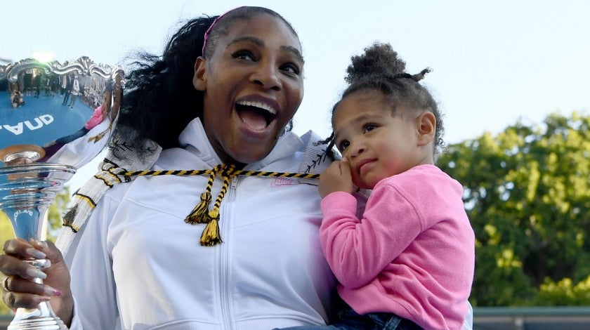 Serena Williams and daughter Alexis Olympia in january 2020