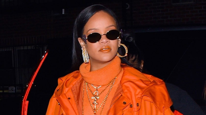 rihanna in orange in feb 2020