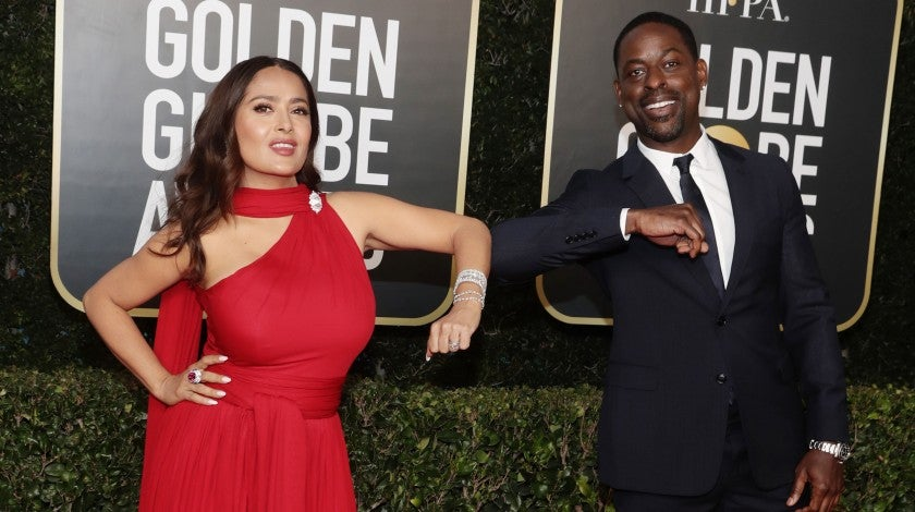 Sterling K Brown Salma Hayek Golden Globes