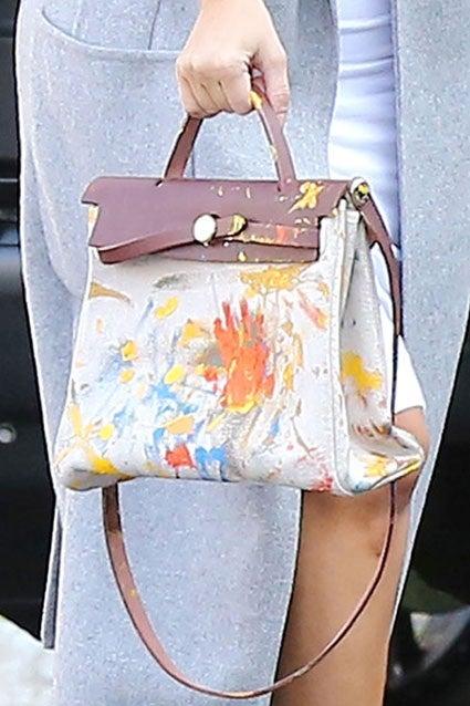 Kim Kardashian Gets a Custom Painted Hermès HAC Bag from