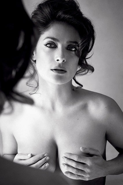Salma Hayek Poses Topless For Allure Admits She Used To Be Desperate When Dating Entertainment Tonight