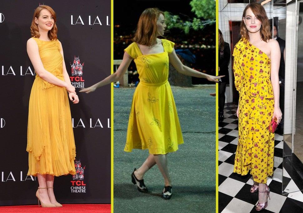 Image result for emma stone la la land yellow dress