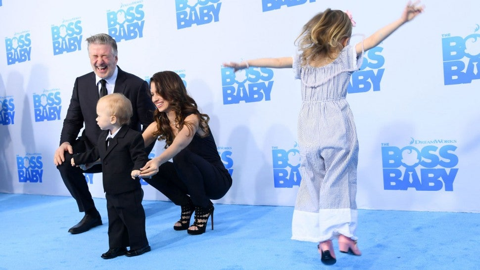 Alec Baldwin Brings Family to 'Boss Baby' Premiere -- and ...