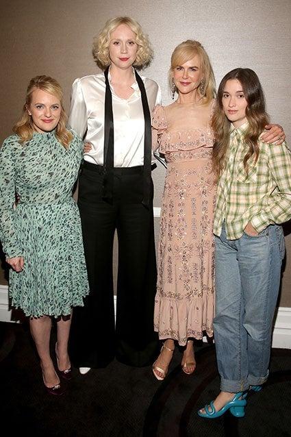 Nicole Kidman looks ethereal in Bardot chiffon blouse