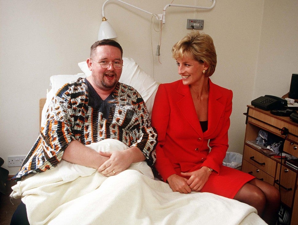 Princess Diana meets AIDs victim