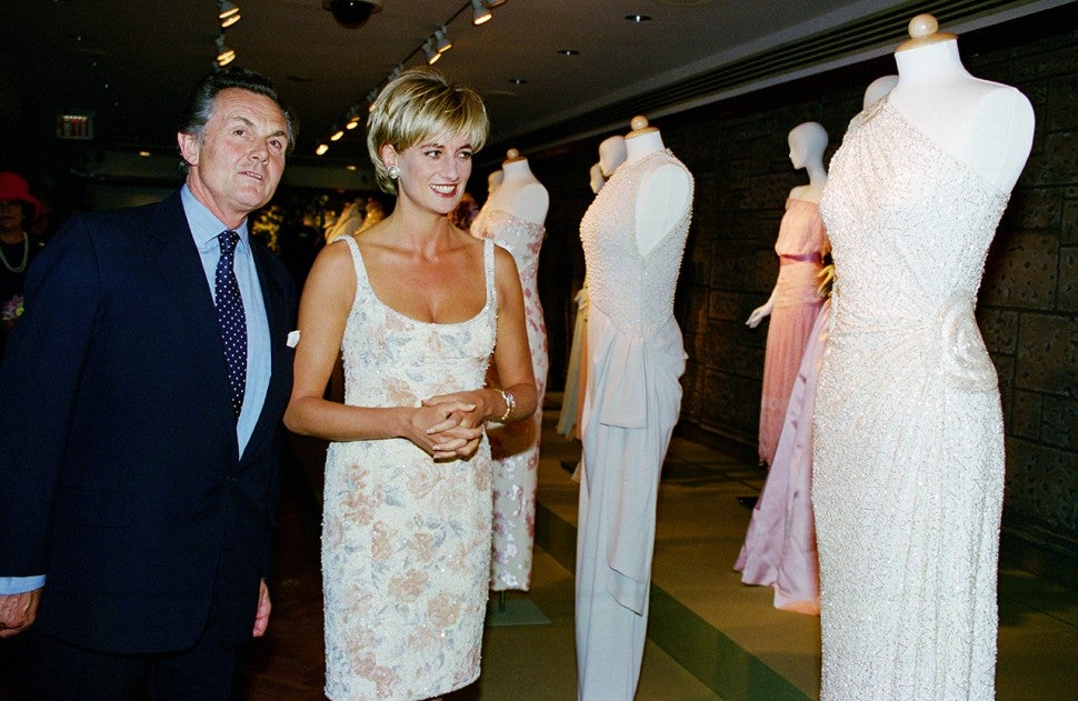 Princess Diana at dress auction