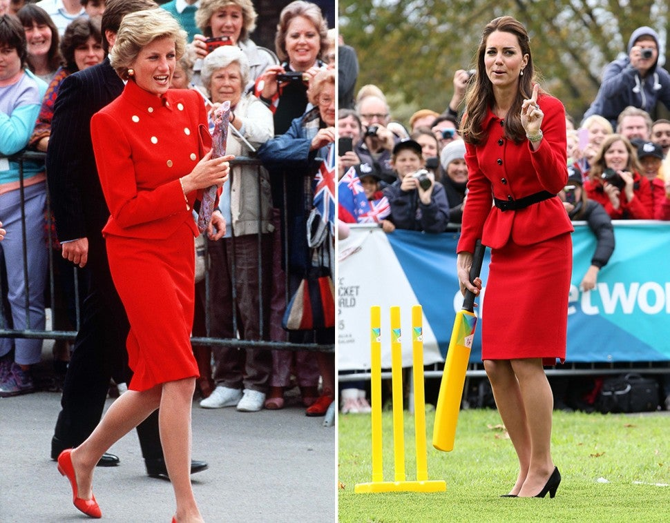 Princess Diana and Kate Middleton's fashion