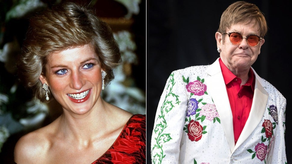 Princess Diana and Elton John