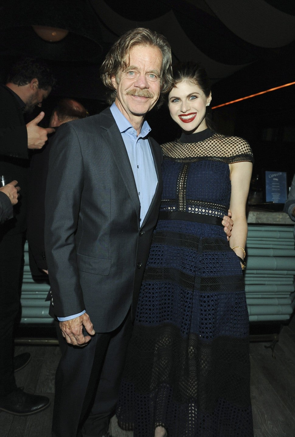 William H Macy and Alexandra Daddario