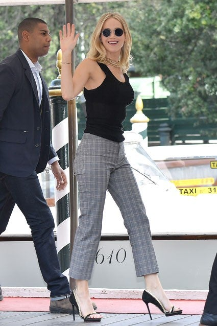Jennifer Lawrence arrives in Venice