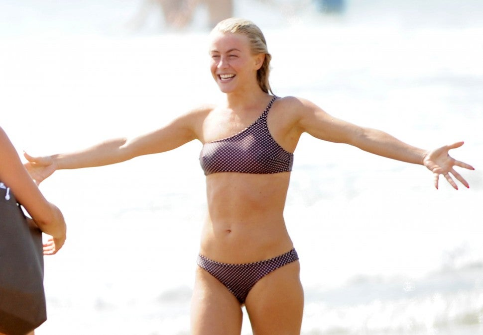Julianne Hough Labor Day Beach