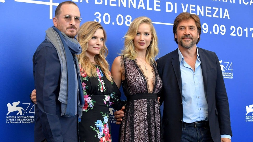 Mother! cast and director at Venice Film Festival