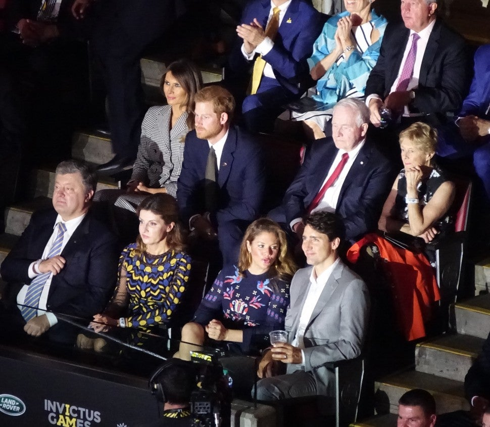 Prince harry and Melania Trump at Invictus Games