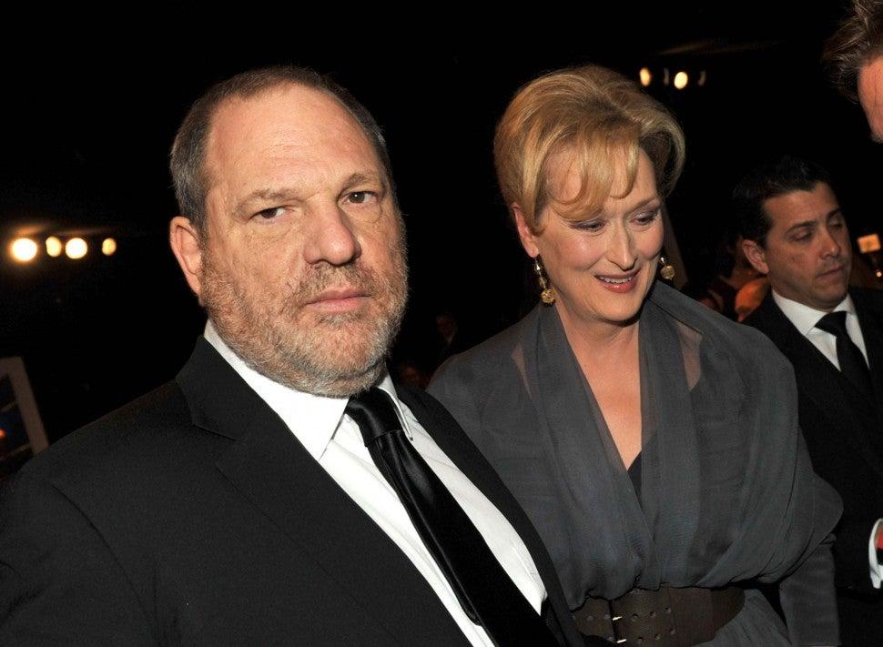 Harvey Weinstein and Meryl Streep