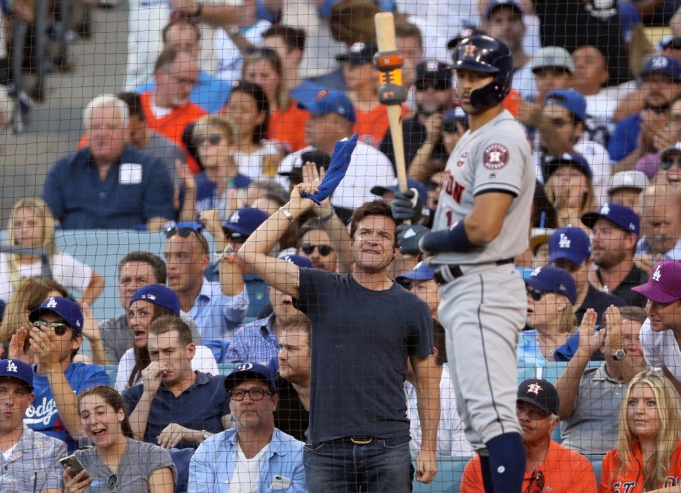 Jason Bateman at Game 2 of the World Series at Dodger Stadium