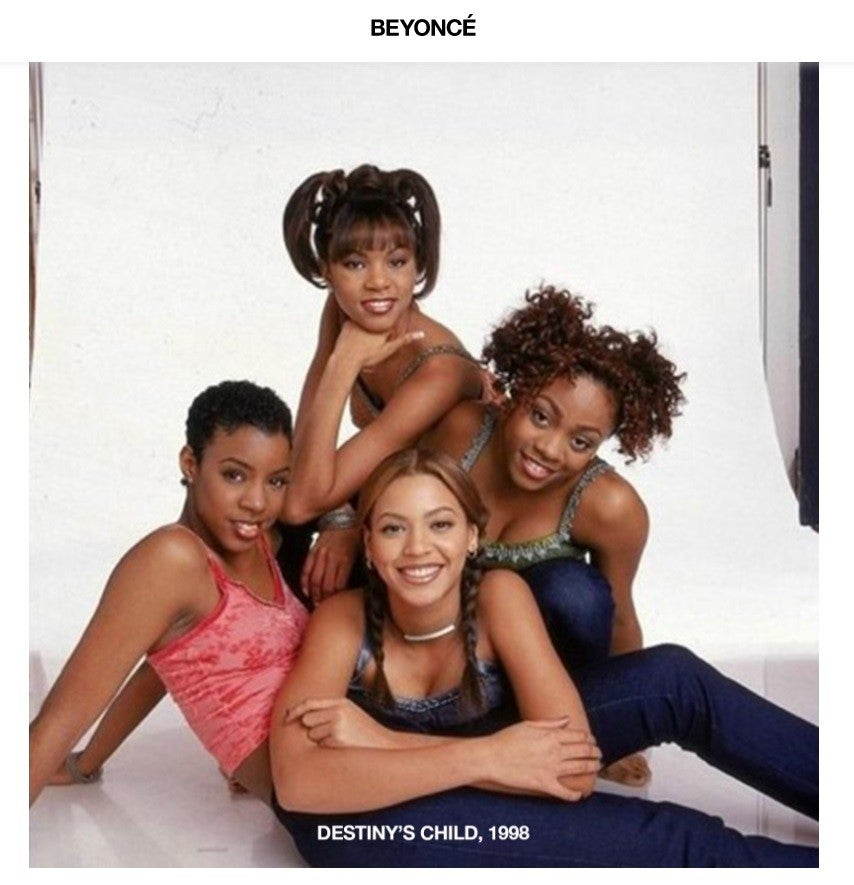 Destiny's Child circa 1998