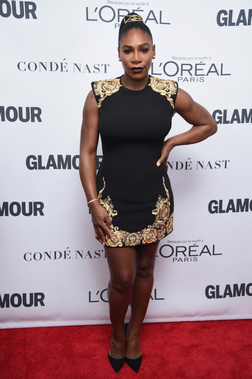 Serena Williams at 2017 Glamour Women of the Year awards
