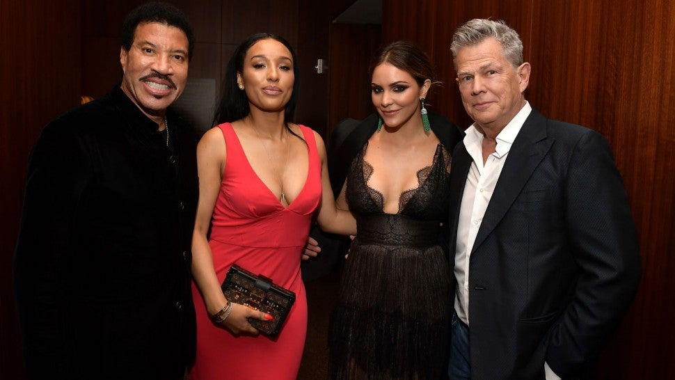 Lionel Richie, Lisa Parigi, Katharine McPhee and David Foster