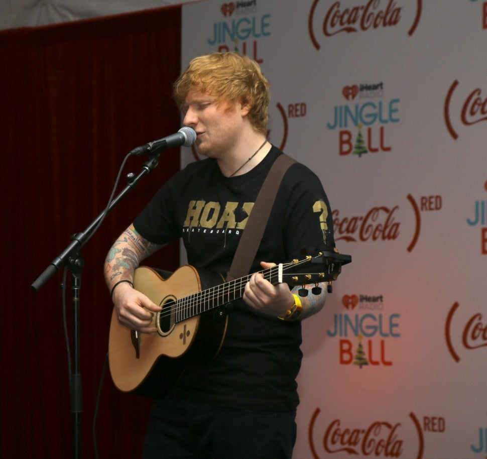 Ed Sheeran jingle ball pizza party