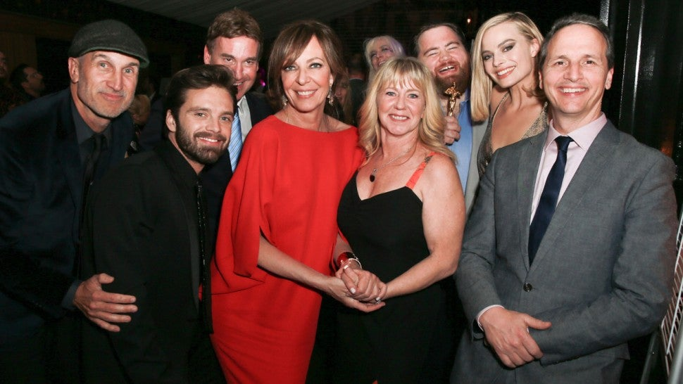 I, Tonya cast and crew with Tonya Harding