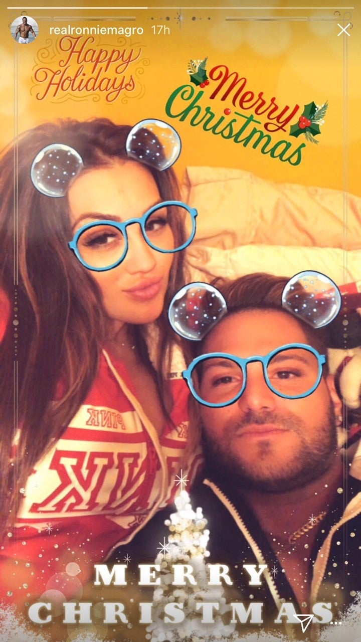 Jen Harley and Ronnie Magro on Christmas