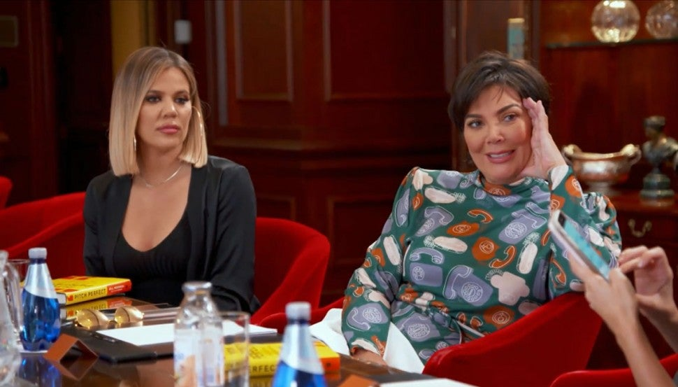 Khloe Kardashian and Kris Jenner in KUWTK
