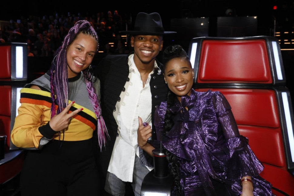Alicia Keys, Chris Blue and Jennifer Hudson