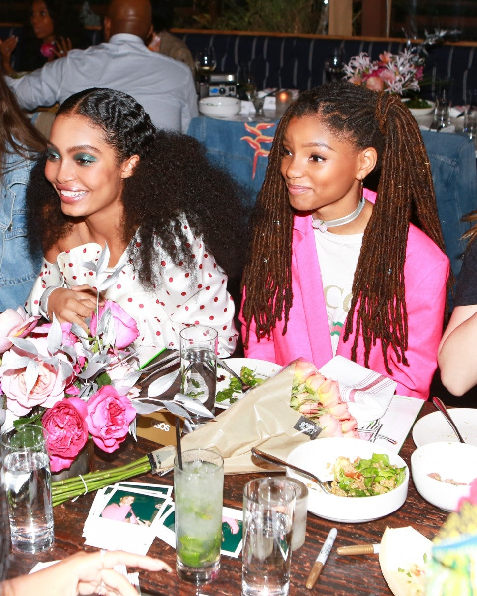 Yara Shahidi and Bailey sisters at Asos magazine party
